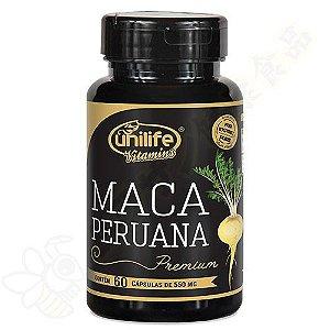 Maca Peruana Premium 100% em cápsulas c/60 - Unilife
