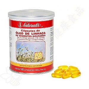 Óleo de Linhaça Dourada Ômega 3-6-9 100 Cápsulas - Naturalis