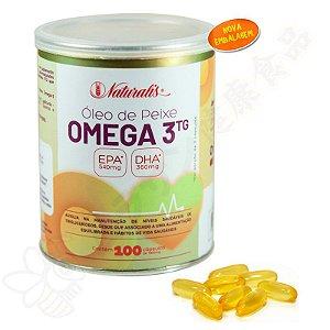 Óleo de Peixe Omega-3 100 Cápsulas 100% TG - Naturalis