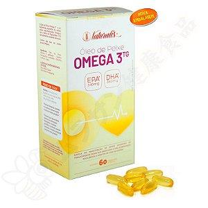 Óleo de Peixe Omega-3 60 Cápsulas 100% TG - Naturalis