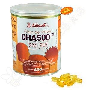 Omega-3 DHA 500 c/100 Cápsulas 100% TG - Naturalis