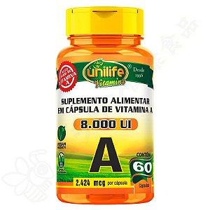 Vitamina A 8000UI c/60 - Unilife