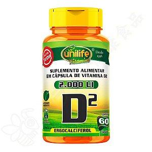 Vitamina D2 2000UI 470mg c/60 - Unilife