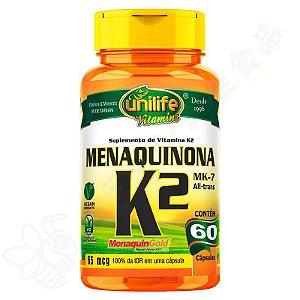 Vitamina K2 Menaquinona MK-7 c/60 - Unilife