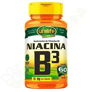 Vitamina B3 Niacina c/60 - Unilife