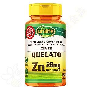 Zinco Quelato (Bisglicinato de Zinco) c/60 - Unilife