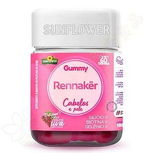 Rennaker em Goma - Cabelos e Pele - Biotina - Silício - Selênio c/60 - Sunflower