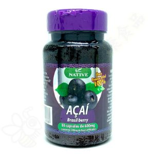 Açaí 100% Liofilizado 600mg c/80 cápsulas - Native