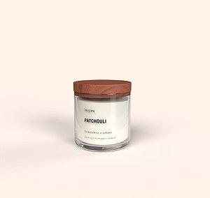 Vela Perfumada de Patchouli (Pote com tampa de madeira G)