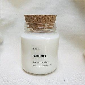 Vela Perfumada de Patchouli (pote com tampa de cortiça M )