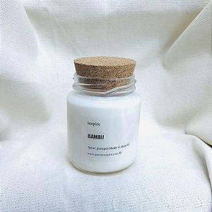 Vela perfumada de Bambu pote com tampa de cortiça M