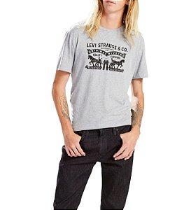 Camiseta Levi's Logo 2 Horse Cinza Mescla