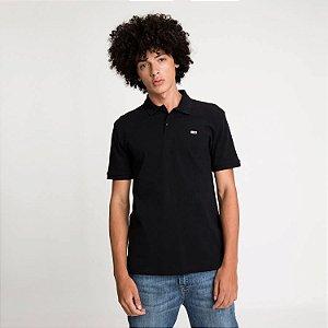 Polo Tommy Jeans Regular Preta