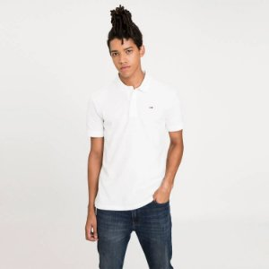 Polo Tommy Jeans Regular Branco