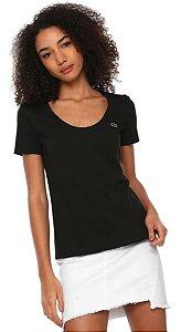 Camiseta Lacoste Feminina Preta