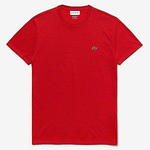 Camiseta Lacoste Regular Fit Vermelho