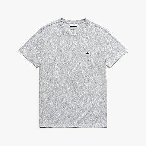 Camiseta Lacoste Regular Fit Cinza Mescla