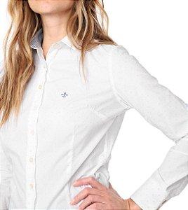 Camisa Dudalina Feminina Micro Poá