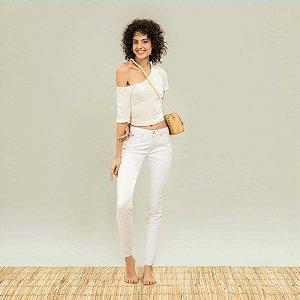 Calça Lez a Lez Skinny Bali Repelente de Líquidos Branca