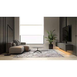 Tapete Sala / Quarto / Esplendor 02 Cinza Macio e Confortável - Edantex