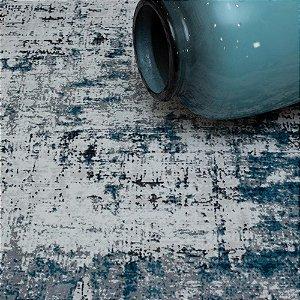 Tapete Sala / Quarto / Antique / 200 /  Azul Resistente e Confortável - Zinihome
