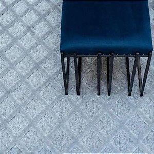Tapete Sala / Quarto / Modern Art 240 Cinza+Chumbo Alto Relevo e Confortável - Zinihome
