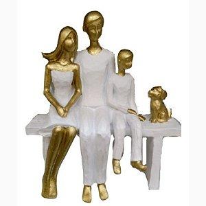 Escultura em Resina Família e Pet