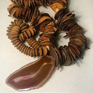 Colar De Mesa Decorativo Casca CABPAGA