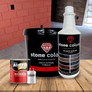 Kit Cimento Queimado Piso e Azulejo Cinza Escuro 5 kg - Decor Colors