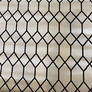 Tapete Sala / Quarto Oslo Azul Marinho Off White - 2,50 x 3,00 (Peça Única)
