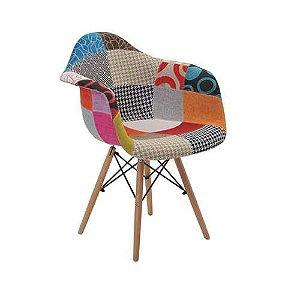 Cadeira Eiffel Patchwork com Braço
