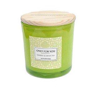 Vela Aromatizada Only For You  Bamboo & Green Tea
