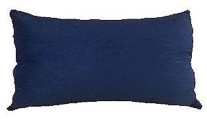 Almofada Baguete Veludo Liso Azul  DC 233-01 | 58 x 35