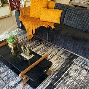 Tapete Sala / Quarto / Antique / 190 /  Cinza Resistente e Confortável