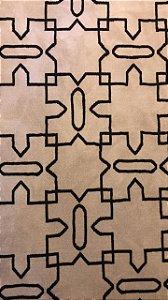 Tapete Simetria Bege e Preto