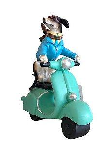 Escultura Cachorro na Motocicleta