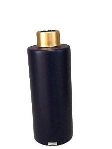 Vaso Azul  G com detalhe dourado