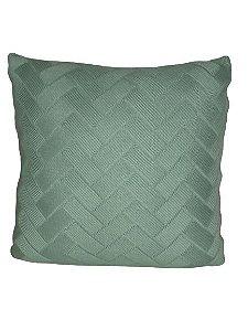 Almofada Tiffany Trançada de Tricô  | 52 x 52