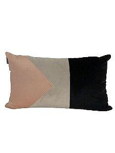 Baguete Cinza com Preto e Rosa  | 50 x 30