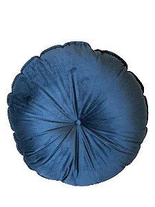 Almofada Redonda  Azul Marinho | 55 x 55