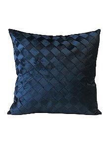 Almofada Trançada Azul | 52 x 52