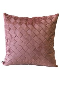 Almofada Trançada Rosa | 52 x 52