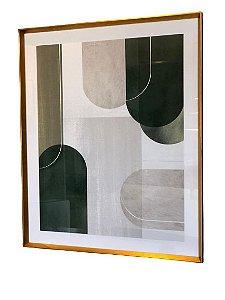 Quadro Abstrato Verde 072