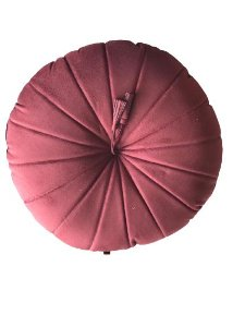 Almofada Redonda Camurça Marsala | 50 x 50