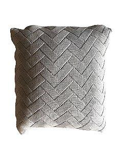 Almofada de Tricô Tiffany Trançado  | 52x52