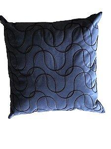 Almofada Azul Marinho Cordinhas 002|  52x52