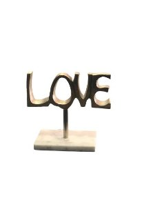 Escultura Love Prata