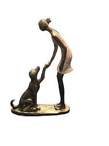 Mulher Com Pet Decorativa 257-202