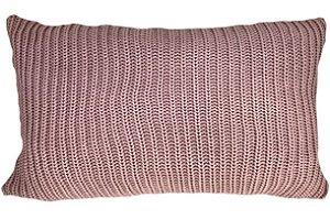Almofada Baguete Tricô Rosa 047-03 | 35x52