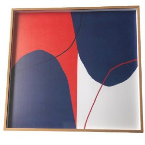 Quadro Decorativo Com Pintura Abstrato Q8507T